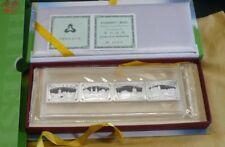 "1999 China ""Suzhau Gardens's 4 X 10 yuanes 1 OZ (approx. 28.35 g) .999 monedas de plata lingotes. Caja y certificado de autenticidad"