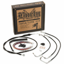 """Burly Brand 15"""" Ape Hanger Cable Brake Line Kit for Harley FLHX, FLHT/C/U 08-13"""