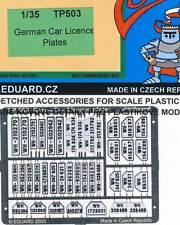 eduard - Alemán Placas alemán Car Licene Fiebre del grabado 1:35 Ejército NUEVO