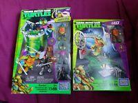 Megabloks Teenage Mutant Ninja Turtles Lot Leo  pizza fury baxter mutation lab.
