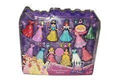 NEW! Disney Princess LITTLE KINGDOM MagiClip Set , 4 DOLLS & 12 DRESSES + Extras