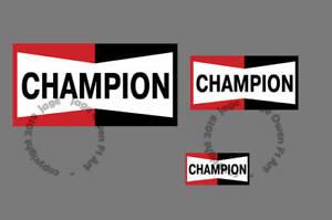 Champion Spark Plugs Logo Sticker - Scuderia GP