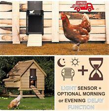 ELITE Automatic Chicken Door Opener + Slider with Light + Timer Sensor Coop Hen