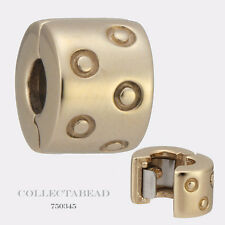 Authentic Pandora 14kt Gold Seeing Spots Clip Bead 750345 *LAST ONE*