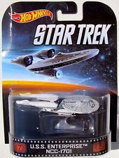 HOT WHEELS RETRO STAR TREK USS ENTERPRISE NCC-1701 With Stand #17 Creased