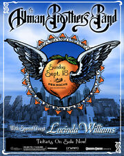 ALLMAN BROTHERS BAND/LUCINDA WILLIAMS DENVER 1994 CONCERT TOUR POSTER-Blues Rock