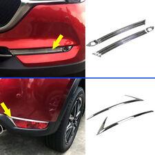 6* Chrome Front + Rear Fog Light Cover Trim for Mazda CX-5 CX5 2nd Gen 2017 2018