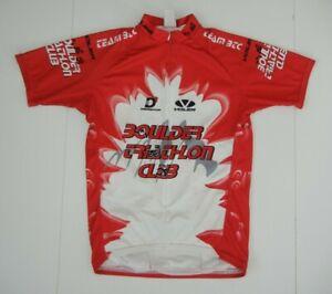 Voler BOULDER TRIATHLON CLUB Red/White CYCLING TRI JERSEY Gym Shirt Sz Men's L