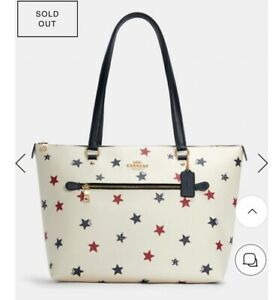 Coach Gallery Tote Shoulder Bag - America star