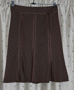 """Principles Ladies Lined Brown Skirt ~ Size 16 ~ 35"""" Waist ~ 30"""" Long"""