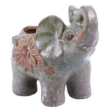 Ceramic Mini Elephant Cacti Succulent Plant Pot Flower Planter Garden Home M9V1