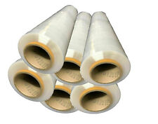 12 ROLLS CLEAR STANDARD PALLET WRAP JOB LOT CLEARANCE OFFER 400MM X 1.80KG 300M