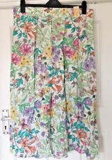 BNWT ST MICHAEL BY MARKS AND SPENCER FLORAL/BUTTERFLY LONG SKIRT SIZE 20 VINTAGE