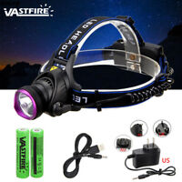 10000LM LED Headlamp Headlight Rechargeable Camping Hiking Fishing Head Torch
