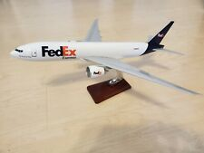 Fedex Boeing 777 Desktop Model with Wood Stand
