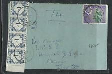 LESOTHO (P0511B) 1967 COVER ROMA TO MASERU 1/2C POSTAGE DUE 1C STRIP OF 4