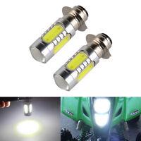 2 x 40W 6000K White LED Headlight Bulb For Yamaha YFM YFS YTM Blaster 200 Moto 4