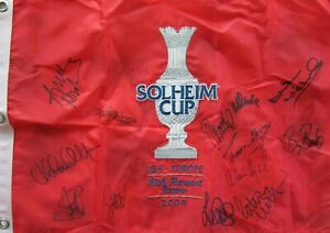 2009 European Solheim Cup Team signed golf flag Laura Davies Nordqvist Pettersen