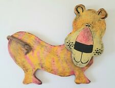 Vintage Signed Dan Shupe USA Lion with Rope Tail Handmade Animal Figure RARE