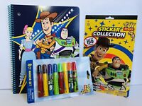 Spiral Notebook, Stickers, Markers Toy Story Disney Pixar Lot New