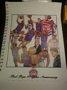 1988-89 Detroit Pistons World Champions Bad Boys Poster