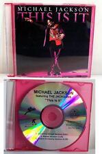 "Michael Jackson ""This is It"" Rare Blue Acetate Dj Promo Cd 2009 White Label"