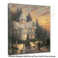 "Thomas Kinkade Wrap - Victorian Christmas  – 14"" x 14"" Gallery Wrapped Canvas"
