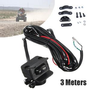 3 Meters ATV/UTV Winch Rocker Switch Handlebar Control Line Warn Accessories Kit