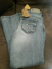 girls silver jeans size 8