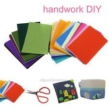 40Pcs Fabric Felt Sheets Package Wool Blend Cloth DIY Craft Polyester 10CM*15CM