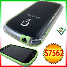 Pellicola+Custodia BUMPER Samsung Galaxy S Duos 2 S7582 trasparente bordo VERDE