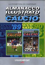 ALMANACCO ILLUSTRATO DEL CALCIO 1989 E 1990=PANINI/GAZZETTA SPORT=