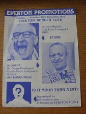 20/09/1975 Everton: Promotions Advertising Leaflet! Single Sheet