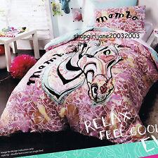 Mambo ⓂⒶⓂⒷⓄ Zebra Pink ⓂⒶⓂⒷⓄ Queen Bed Quilt Doona Duvet Cover Set ⓂⒶⓂⒷⓄ