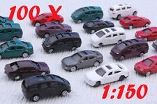 100PCS Building Layout 1:150 Scale Model Cars/ Fixation door and wheels