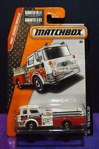 2015 Matchbox  MBX HEROIC RESCUE '75 MACK CF Fire Truck. Long card. VHTF