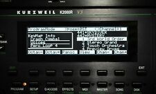 Yamaha TG-77 SY-77 SY-99 Kurzweil K2000 K2000R K2000VX Graphic Display !