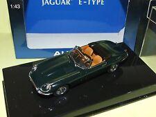JAGUAR TYPE E ROADSTER CABRIOLET SERIES III V12 Vert AUTOART 1:43