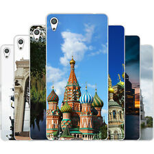 Dessana Russia Sightseeing TPU Silicone Protective Cover Phone Case for Sony