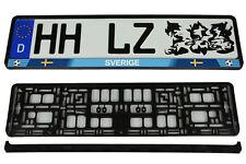Kennzeichenhalterung Kennzeichenhalter Kennzeichenrahmen EM2016 SCHWEDEN Sverige