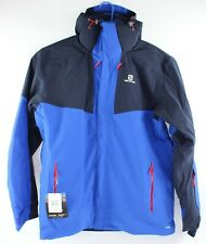 Salomon Mens 2XL Blue Icerocket L39733200 Hooded Jacket Coat New with $375 Tags