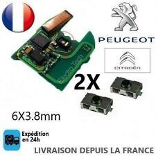 LOT 2 Switch bouton Clé Télécommande Plip Pour Peugeot 106 206 207 306 307 406