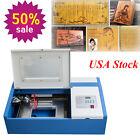 USPS 40W CO2 Laser Engraving Cutting Machine Engraver Cutter Safety DIY USB Port