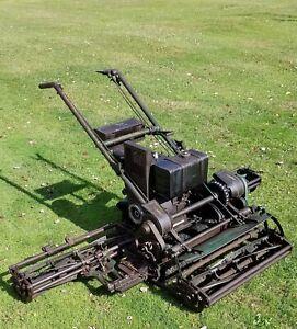 "1956 Locke Lawn mower 70"" Triplex"