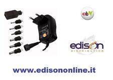 ALIMENTATORE SWITCHING UNIVERSALE REGOLABILE 3V 4,5V 5V 6V 7,5V 9V 12V 1,5A USB