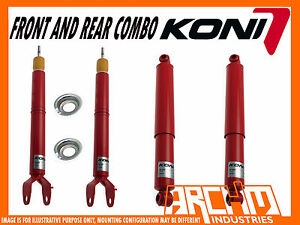 KONI ADJUSTABLE F & R SHOCK ABSORBERS FOR FORD FALCON FG FGX SEDAN