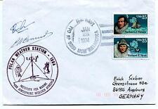 1994 Polar Weather Station Utrecht McMurdo Alaska Polar Antarctica Cover SIGNED