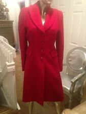 MOSCHINO CHEAP AND CHIC HEART BUTTON  RED COAT SIZE 12