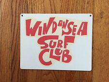 Windansea Surf Club Surfing Surfboard San Diego Beach Vintage Poster Metal Sign