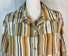 Womans Dress Shirt Sz 18 LSleeve Button Up Gold Tan Retro Jordan Woman WS105